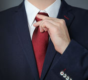 Blue suit. Man wearing blue business suit stock photography