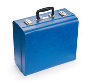 Blue suitcase Stock Images