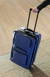 Blue suitcase. Royalty Free Stock Image