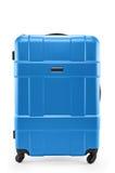 Blue suitcase plastic Royalty Free Stock Photos