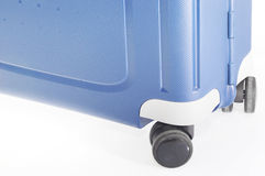 Blue Suitcase on wheels Royalty Free Stock Images
