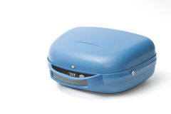 Blue suitcase on a white Royalty Free Stock Photo