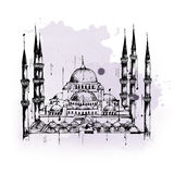 Blue or Sultan Ahmed Mosque in Istanbul, Turkey Stock Image