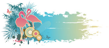 Blue summer banner Royalty Free Stock Images