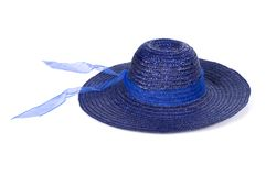 Blue summer hat Royalty Free Stock Images