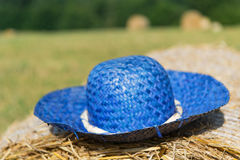 Blue summer hat Royalty Free Stock Photo