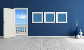 Blue summer room Royalty Free Stock Photos
