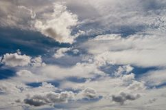 Blue summer sky with beautiful clouds on it Royalty Free Stock Images