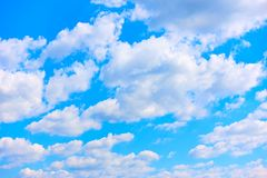 Blue summer sky with clouds stock photography