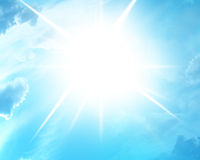 Blue summer sun Royalty Free Stock Photography