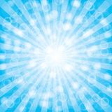 Blue  summer sun light burst. Royalty Free Stock Photos