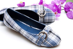 Blue summers shoes Royalty Free Stock Image