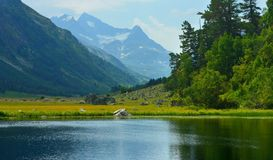 Blue summits in Caucasus Stock Photos