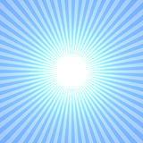 Blue Sun. Abstract, Rays Shine From A Bright Center, Illustration Background Stock Photo