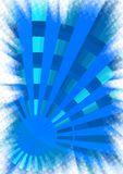 Blue sun. Abstract background winter blue sun Stock Photography