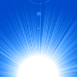 Blue sun Royalty Free Stock Photos