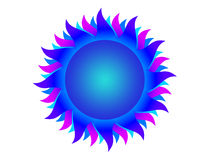 Blue sun Stock Photos