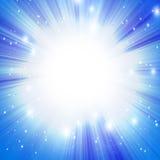 Blue sun vector illustration