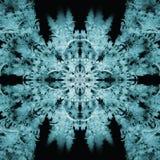 Blue Sun As a Flower Fractal Concept Stock Images
