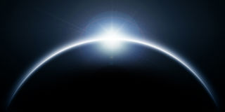 Blue sun eclipse Stock Image