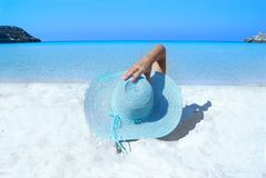 Blue Sun Hat Royalty Free Stock Photo
