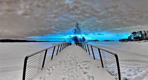 Blue sun stock photo