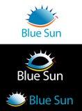 Blue Sun Logo Royalty Free Stock Image