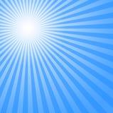 Blue Sun Rays Stock Image