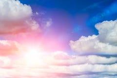 Blue sun sky. sunny day summer. Season Stock Image