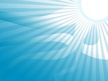 Blue Sun Stripes Background Stock Photo