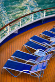 Blue sunbeds Royalty Free Stock Photo