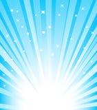 Blue Sunburst vector illustration