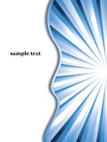 Blue sunburst business vector background. With place for your sample text Stock Images