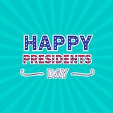 Blue sunburst with ray of light. Presidents Day Stock Photo