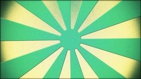 Blue sunburst in vintage style stock video footage