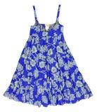Blue sundress Royalty Free Stock Image