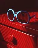 Blue Sunglasses Stock Photography