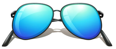 A blue sunglasses Stock Photography