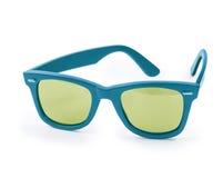 Blue sunglasses Stock Image