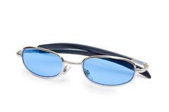 Blue sunglasses Stock Images