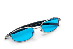 Blue sunglasses Stock Photos