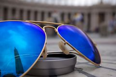 Blue Sunnglasses stock photos