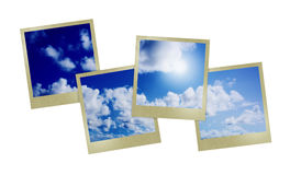 Blue sunny sky with clouds Stock Image