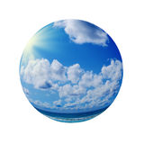 Blue sunny sky with clouds Stock Images