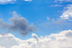 Blue sunny sky white clouds Stock Photo