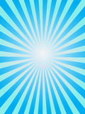 Blue sunray background. Simple background of blue sunray Stock Photos