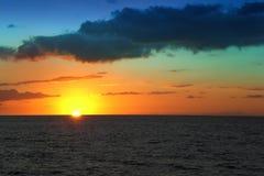 Blue sunset royalty free stock photography