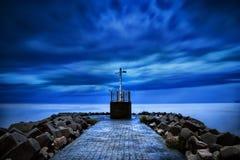 blue sunset at beach sura gate Stock Photos