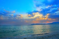 Blue sunset in Alghero Stock Photos