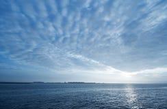 Blue sunset background Stock Photo